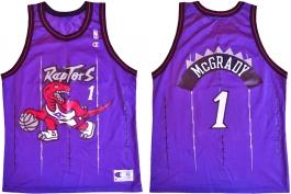Tracy McGrady Toronto Raptors Purple Pinstripe