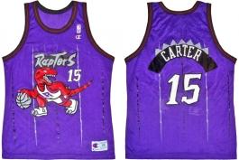Vince Carter Toronto Raptors Purple Pinstripe
