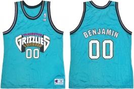 Benoit Benjamin Vancouver Grizzlies Blue