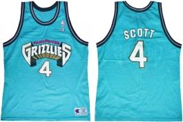 Byron Scott Vancouver Grizzlies Blue