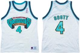 Byron Scott Vancouver Grizzlies White 1