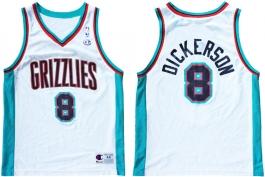 Michael Dickerson Vancouver Grizzlies White Vneck