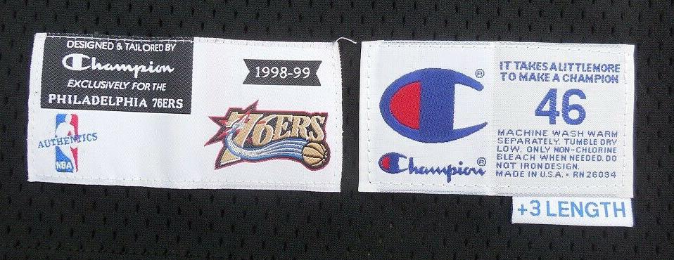 1998-1999 Philadelphia 76ers Pro Cut Jock Tags