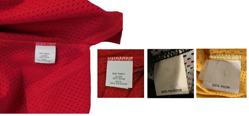 Champion Pro Cut Jersey Fabric Content Hemline Tag